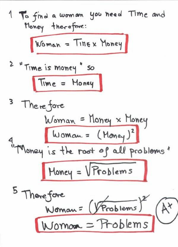 Women As Explained by Engineers Part I